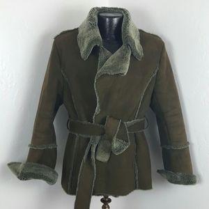 Winter women jacket green not real fur